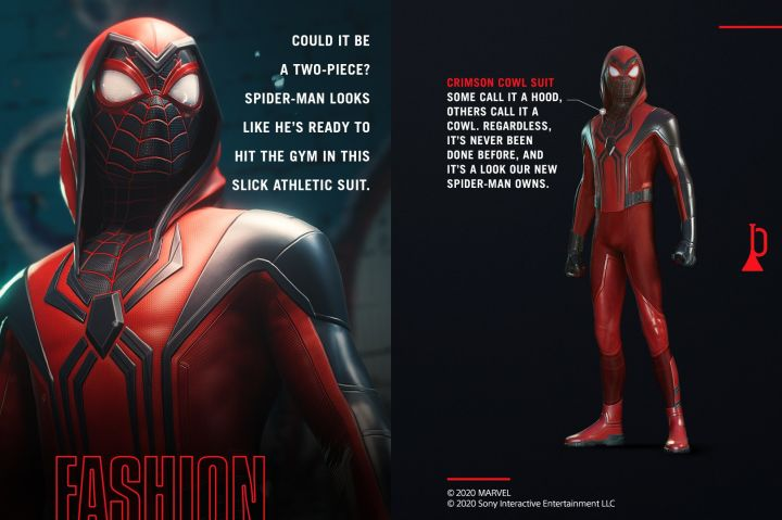 Marvel's Spider-Man Miles Morales Crimson Cowl Suit